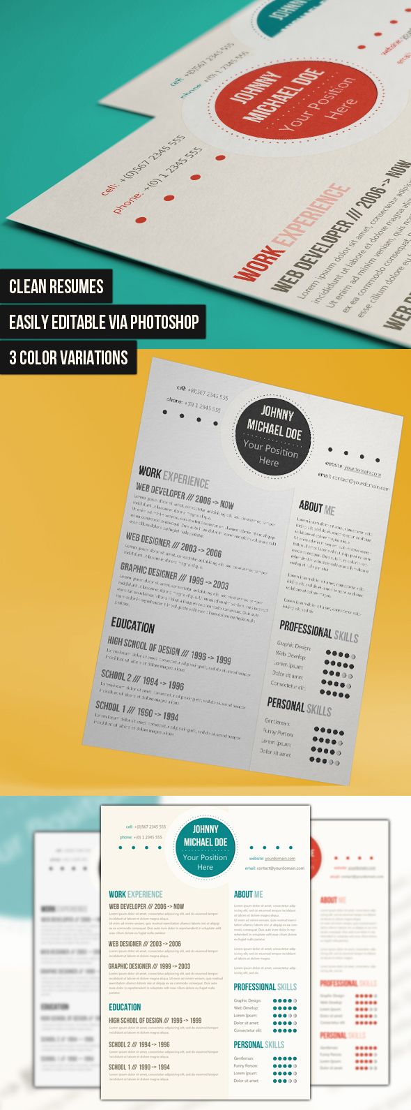 a list of popular modern resume templates modern and clean cv template