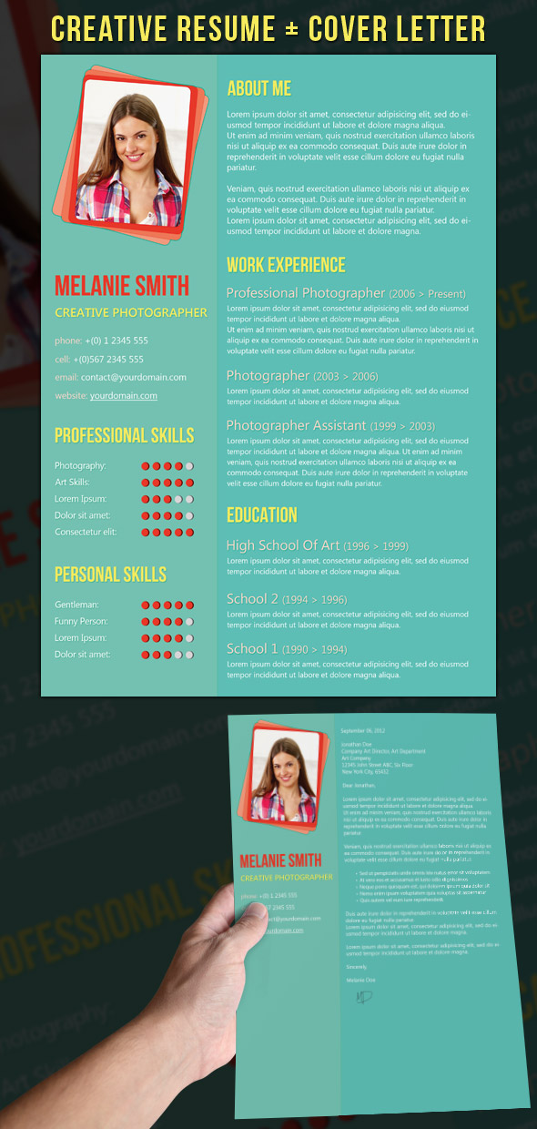 creative resume cover letter Cute resume, although the photos feel too casual for me put that ish on your website, not in your resume find this pin and more on creative cvs & cover letters by.