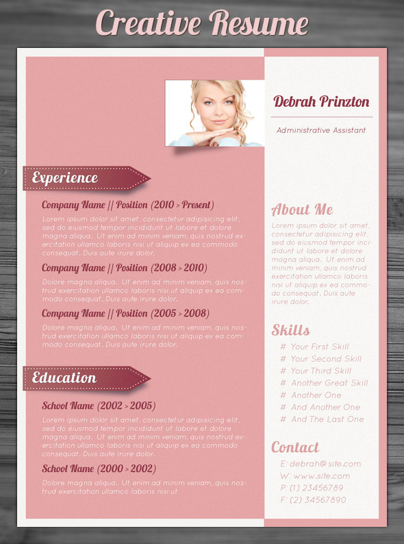 Free Creative Resume Templates Free Creative Resume Templates Word
