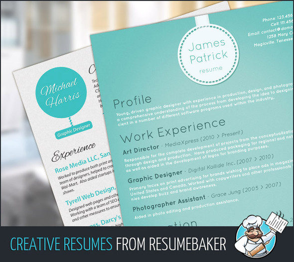 Designed Resumes From ResumeBaker