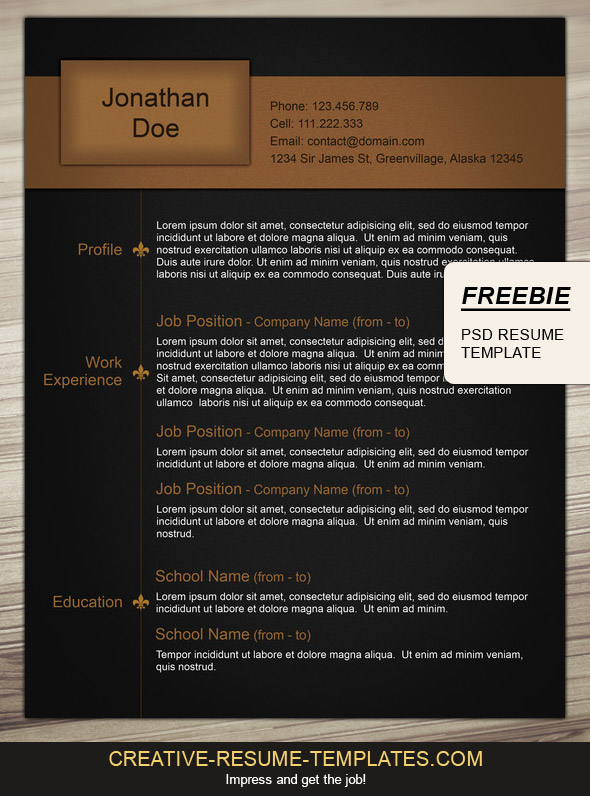 Download this free CV layout