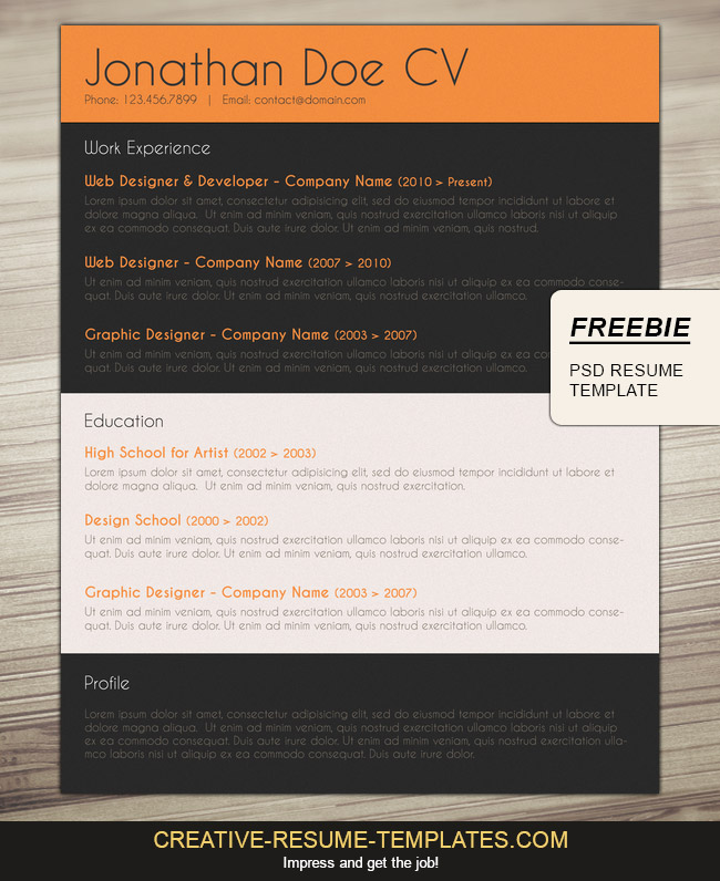 Free Professional Cv Layout