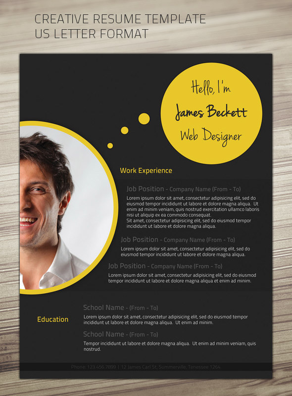 Creative CV Donwload Resume