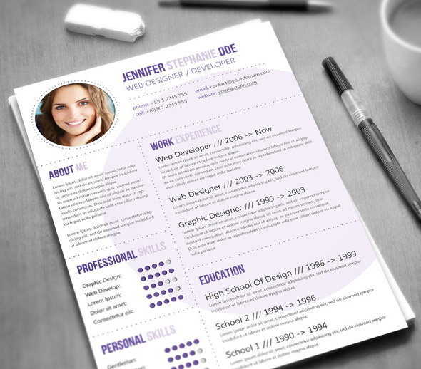Circles Resume Template