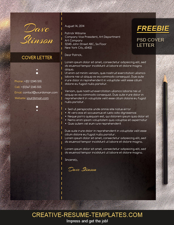 Download Cover Letter For Free  Free Cover Letter Template Downloads