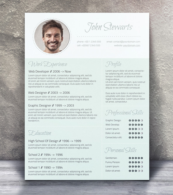 cv amp cover - Contemporary Resume Templates