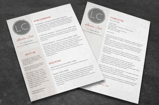 cover letter template conservative cv layout