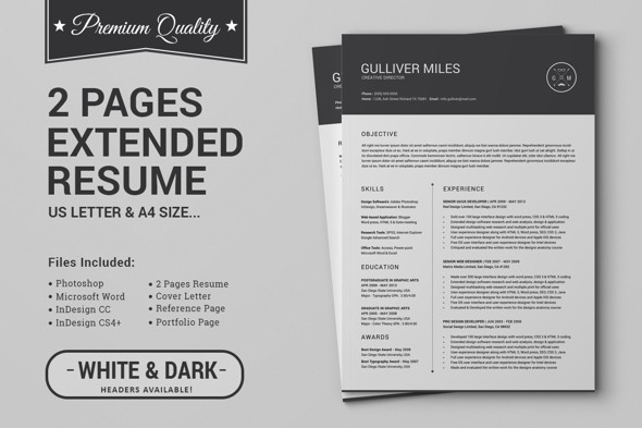 2 pages resume ms word - Resume Ms Word Template