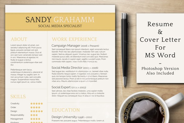 Creative Resume Templates Microsoft Word