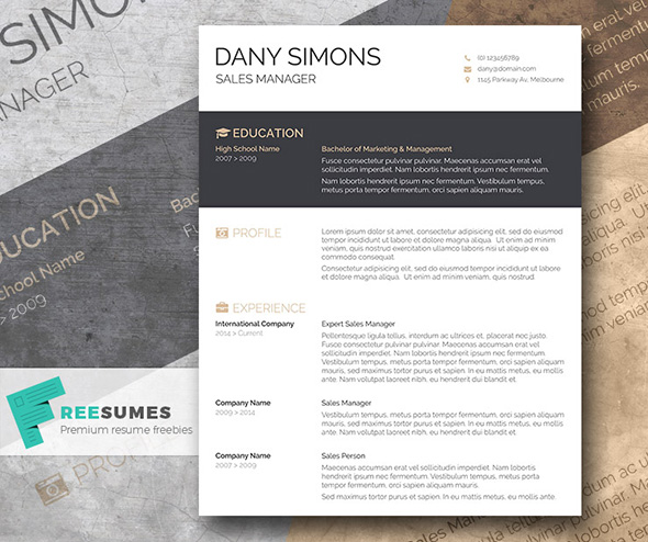 free word cv template - Beautiful Resume Template