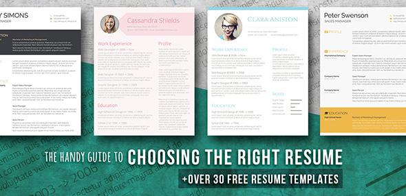 guide choosing resume templates