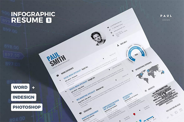 infographic cv template donwload resume